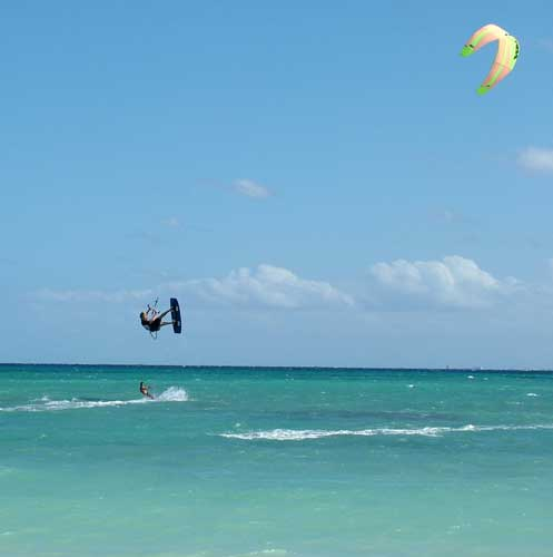 Kite Surfing in the Sun