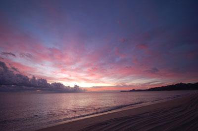 Purple Sunset Rincon Bay